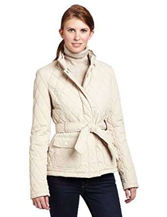 Tommy Hilfiger Women's Molly Spring Quilted Barn Jacket, Pumice, X-Large
