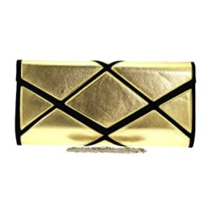 Girly HandBags Women's Mosaic Oversized Clutch Bag -- Gold