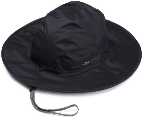 Outdoor Research Halo Sombrero Rain Hat, 001-Black, Large