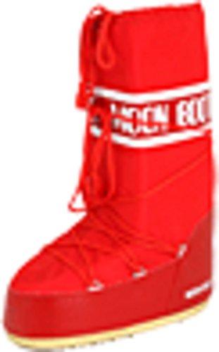 Tecnica Moon Boot Unisex Nylon Winter Boot,Red, 39-41 EU, 7-8.5 US Men's, 8-10 US Women's
