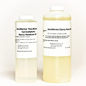 AeroMarine Clear Epoxy Resin Kit for Bar Top, Counter Top, Table Top