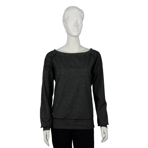 Damen Langärmliges T-shirt Epic Crew black heather matte silver L 450777-032