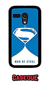 Caseque The Man Of Steel Superman B Back Shell Case Cover For Moto G (1st Gen.)