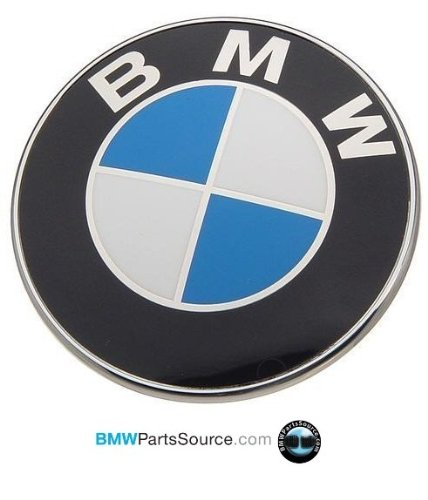 BMW Genuine Hood Roundel Emblem 82 mm for All Model Except Z4 Fits Most Trunk See Description (Bmw Oem Hood Emblem compare prices)
