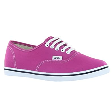 Buy Vans Classic Authentic Lo Pro Fuchsia Ladies Trainers by Vans