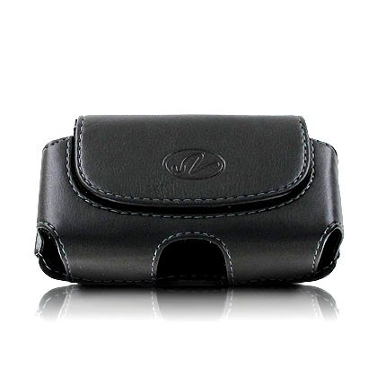 Premium Horizontal Leather Pouch Case with Belt Clip for AT&T Z221 Z-221