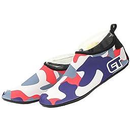 Beach Swim Surf - Barefoot Water Shoes Flexible for Yoga Exercise Running Diving Men Women Shoes (XXXXL( US 10.5-11 EUR 46-47), BLUE)