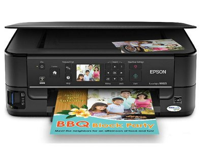 Epson Stylus Nx625 Multifunction Color Ink-Jet Print Copy Scan Built-In Wireless Printing