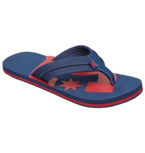 DC Central Sandal Flip Flops - Dcnavy/Red