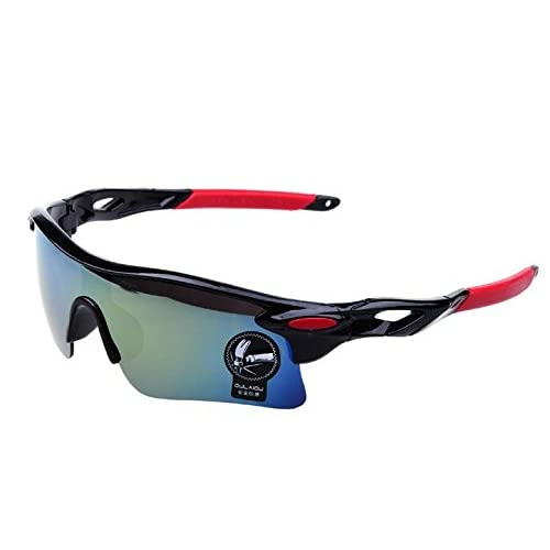【ノーブランド品】スポーツサングラス メガネ ケース + 眼鏡 拭きの3点セット SP-001MR