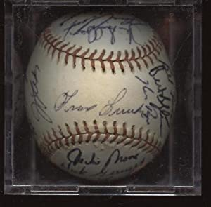 1976 Texas Rangers Team Signed BB 26 Sigs PSA DNA - Autographed Baseballs by Sports+Memorabilia