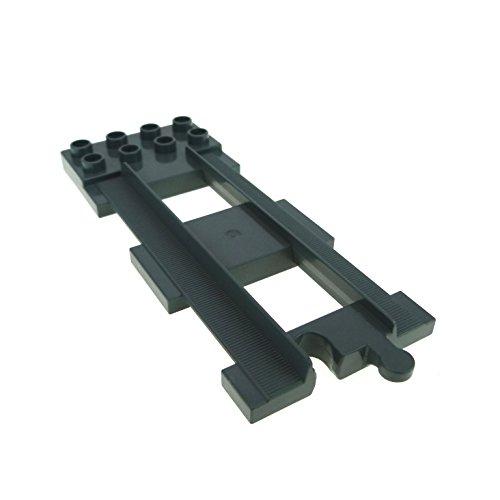1 x Lego Duplo Schiene Endstück neu-dunkel grau 2 x 4 Platte Eisenbahn Ende 31442