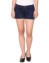 Alibi Women's Shorts(ALBR000089A_30_Navy_30)