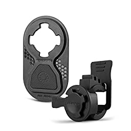 Rokform Sport Series Quad Tab, Twist Lock, Universal Bar Mount holder kit for Bikes, Strollers and more with Universal Adapter kit