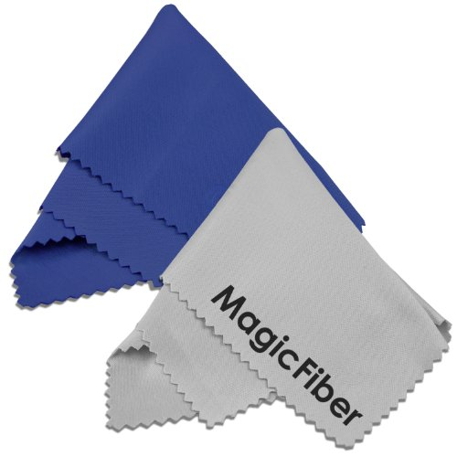 "(2 Pack) Magicfiber Microfiber Cleaning Cloths - For Tablets, Lenses, And Other Delicate Surfaces (1 Blue And 1 Grey 6X7"")"