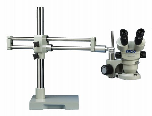Luxo 23712Rb System 273Rb-Fl Stereo-Zoom Binocular 23Mm Microscope Roller Bearing Stand Fluorescent Ring Light