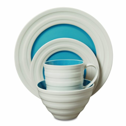 Isaac Mizrahi Caribbean Color 16-Piece Dinnerware Set, Blueberry