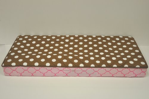 Butterflies pink/chocolate Changing Pad Cover