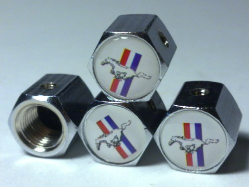 Ford MUSTANG Anti-Theft Tire Valve Stem Caps 4 pcs