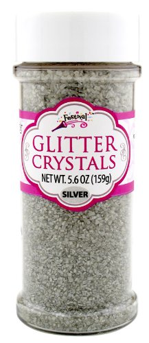 Silver Glitter Crystals Edible 5.4 Oz. Cake Cupcakes Cookies Icing (Glitter Icing compare prices)