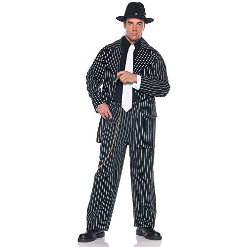 Zoot Suit Pin Stripe Gangster Adult Costume
