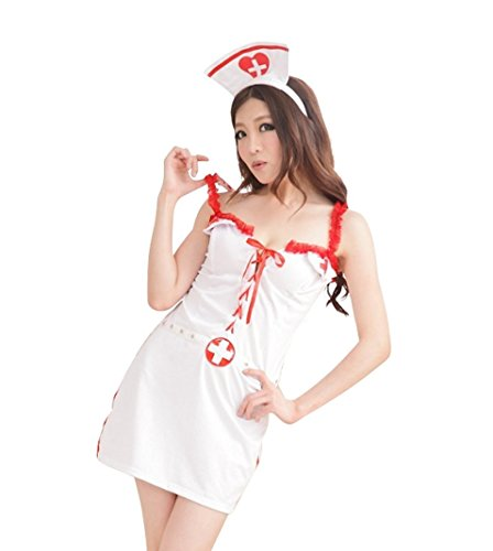 Spicy girl Sexy Nurse Uniform Performance Costume Gallus Teddy Cosplay WWA-L