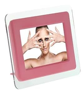 Kitvision Digitaler Bilderrahmen Display 7 Zoll (17,7 cm) mit eingebautem Stand und Kartenslot für SD/MMC/MS Speicherkarten, UK-Netzstecker - Hellrosa
