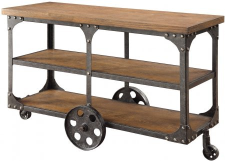 Coaster 701129 Home Furnishings Sofa Table, Rustic Brown (Appliance Table compare prices)