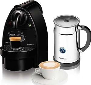 Essenza Manual Espresso Machine with Aeroccino Plus Milk Frother Bundle Option: Black... by Nespresso