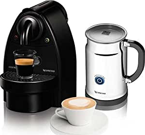 Essenza Manual Espresso Machine with Aeroccino Plus Milk Frother Bundle Option: Black/Aero+Bundle