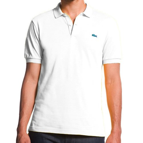Lacoste Short Sleeve Stretch Pique Polo (M, White)