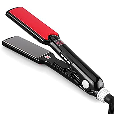OSIR Professional and Digital Nano-Titanium Wet & Dry Flat Iron Hair Straightener --- EFFECTIVE and SAFE