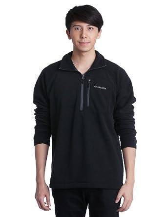 Columbia Men's Fast Trek II Half Zip Fleece Jacket, Black, Small
