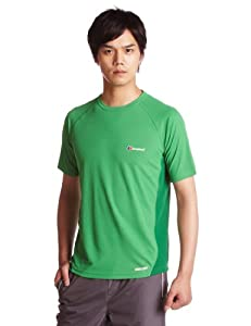 Berghaus Relaxed Short Sleeve Men's Baselayer - Fern/Verdant Green, Large