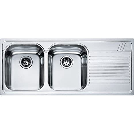80cm Undermount Sink 2Basins and Slide Right, Base, Stainless Aesthetic Steel Franke AMX 621–Harmony