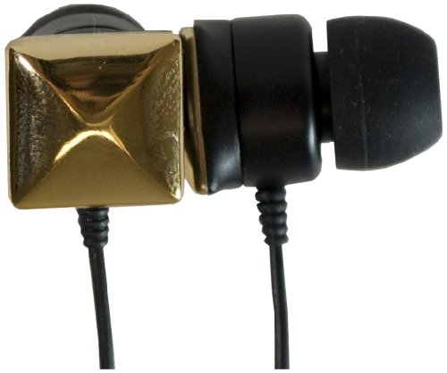 Audiology Au-Epst-Gl In-Ear Studded Stereo Earphones For Mp3 Players, Ipods And Iphones (Gold)
