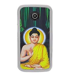 Mahatma Budh 2D Hard Polycarbonate Designer Back Case Cover for Motorola Moto E2 :: Motorola Moto E Dual SIM( 2nd Gen) :: Motorola Moto E 2nd Gen 3G XT1506 :: Motorola Moto E 2nd Gen 4G XT1521