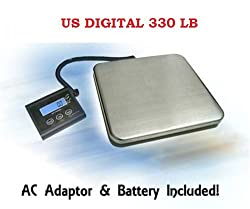 US Digital 330 Lb Precise Industrial Shipping Scale - Heavy Duty Stainless Steel