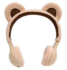Emio Mix-Monsters Headphones Brown Bear