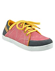 """ALPHAMAN """"PINK WITH BLUE STRIPPED"""" CASUAL SHOES - B00T7FCX54"""