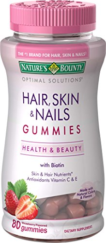 Nature's Bounty Optimal Solutions Hair, Skin and Nails Gummies, 80 Count (Pack of 3)