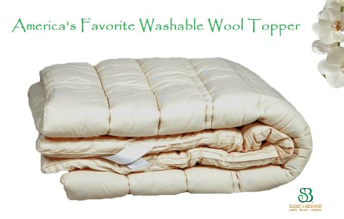 "Washable Wool Mattress Topper/Pad Down Alternative Cal King 75X86X1.5"" front-547119"