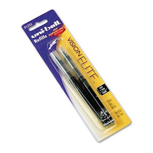 Uni-Ball - Refill For Uni-Ball Vision Elite Roller Ball, Bold, Black Ink, 2/Pack 61233Pp (Dmi Pk