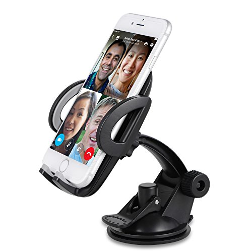 Sundix Car Phone Mount Holder, Universal Car Windshield / Dashboard Phone Mount Holder Cradle with Suction Cup for iPhone 7 7 Plus 6 6S Plus SE Galaxy Note 7 5 4 S7 S6 Edge LG G5 G4 Nexus 5x 6P