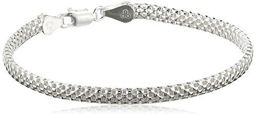 Sterling Silver Mesh Chain Bracelet, 8″ image