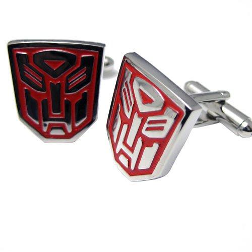 Transformer Autobot cufflinks Red Sliver Cuff Links