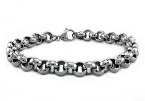 Stainless Steel Men's Rollo Bracelet 8.5