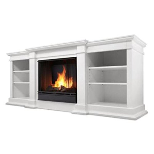 Real Flame Fresno Ventless Gel Fireplace - White (Gel Alcohol Fuel Fireplace compare prices)