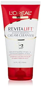 L'Oreal Paris RevitaLift Radiant Smoothing Cream Cleanser, 5.0 Fluid Ounce