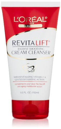 L'Oreal Paris RevitaLift Radiant Smoothing Cream Cleanser, 5ーFluid Ounce
